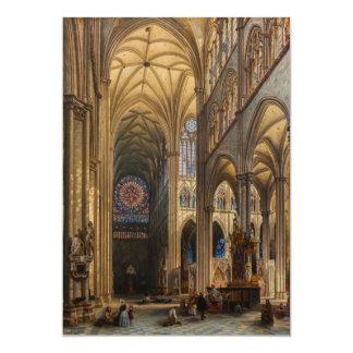 Interior da Catedral de Amiens by Jules Genisson Card