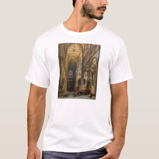 Interior da Catedral de Amiens by Jules Genisson T-Shirt