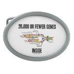 Interior de 20.000 o menos genes (réplica de la DN Hebilla De Cinturon Oval