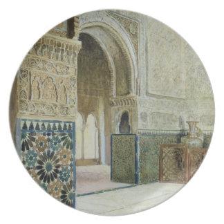 Interior de Alhambra, Granada (w/c) Platos De Comidas