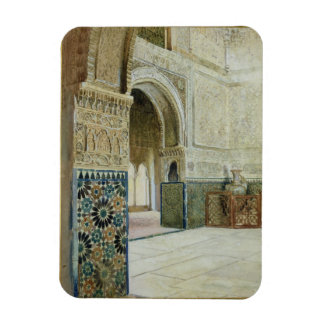 Interior de Alhambra, Granada (w/c) Rectangle Magnet