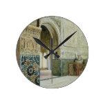 Interior de Alhambra, Granada (w/c) Relojes De Pared