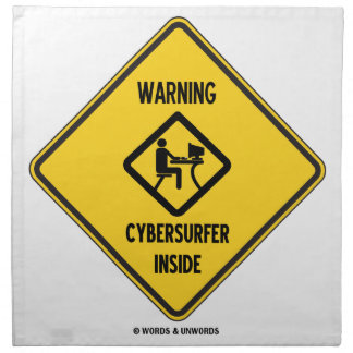 Interior de cuidado de Cybersurfer (muestra) Servilleta Imprimida