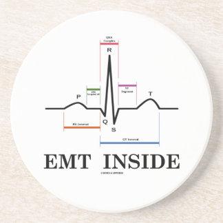 Interior de EMT (electrocardiograma del ritmo del Posavasos Diseño