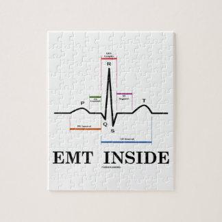 Interior de EMT (electrocardiograma del ritmo del Puzzle