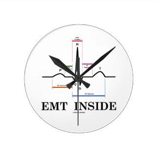 Interior de EMT (electrocardiograma del ritmo del Reloj Redondo Mediano