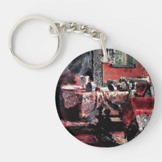 Interior de Ilya Repin- (etude) Llavero Redondo Acrílico A Una Cara