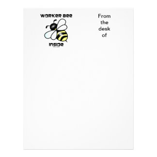 Interior de la abeja de trabajador (actitud de la membretes personalizados