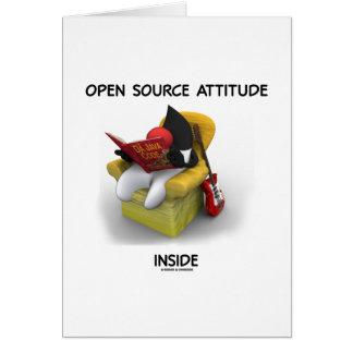 Interior de la actitud de Open Source (duque Java  Felicitación