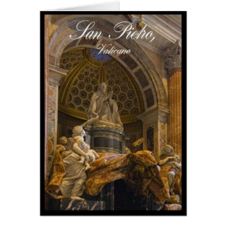 Interior de la basílica de San Pedro en Vatican Tarjeta
