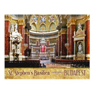 Interior de la basílica de St Stephen en Budapest Tarjetas Postales