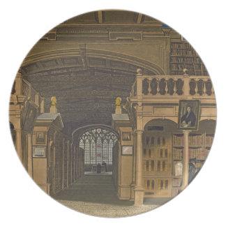 Interior de la biblioteca de Bodleian, ejemplo par Plato De Cena