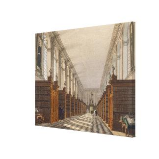 Interior de la biblioteca de universidad de la tri impresion en lona