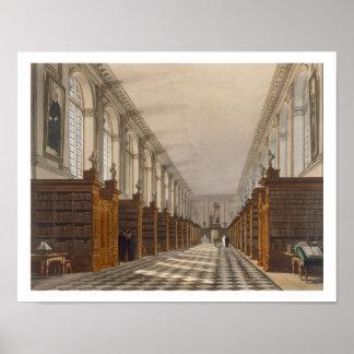 Interior de la biblioteca de universidad de la tri póster