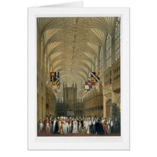 Interior de la capilla de San Jorge, 1838 (litho d Tarjeta De Felicitación