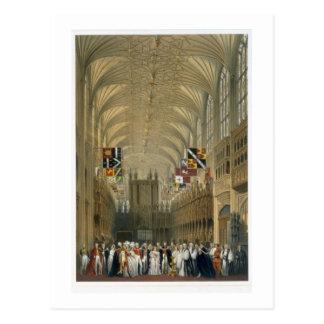 Interior de la capilla de San Jorge, 1838 (litho Postal
