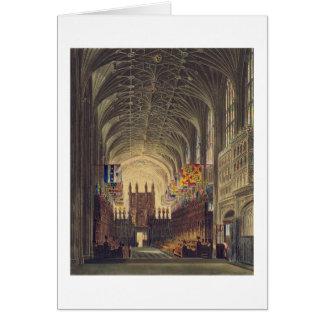 Interior de la capilla de San Jorge, castillo de W Tarjeta De Felicitación