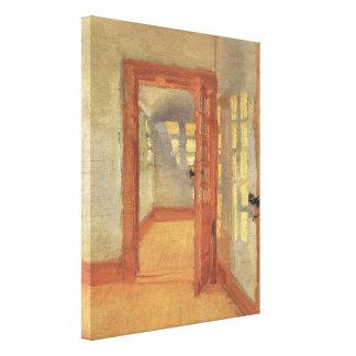 Interior de la casa, Ana Ancher, impresionismo del Impresiones De Lienzo