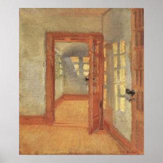 Interior de la casa, Ana Ancher, impresionismo del Póster