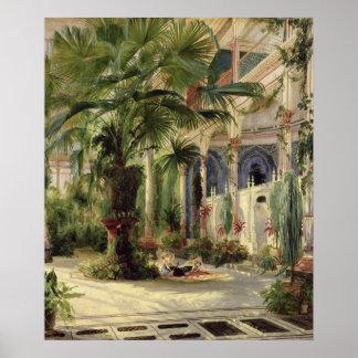 Interior de la casa de palma en Potsdam, 1833 Póster