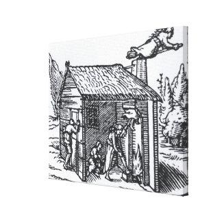 Interior de la casa de una bruja, 1579 impresion de lienzo