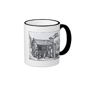 Interior de la casa de una bruja, 1579 taza de café