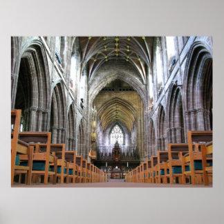 Interior de la catedral de Chester Póster