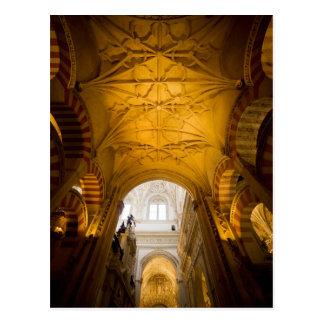 Interior de la catedral de Mezquita en Córdoba Tarjeta Postal