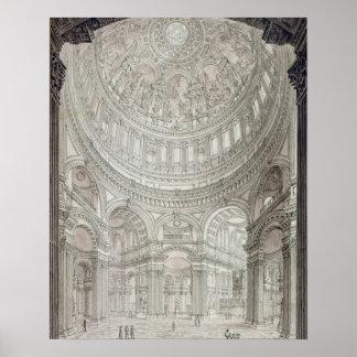Interior de la catedral de San Pablo, 1817 Impresiones