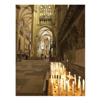 Interior de la catedral de San Pedro en Regensburg Tarjetas Postales
