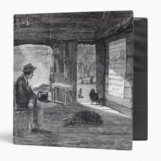 Interior de la choza de un colono en Australia