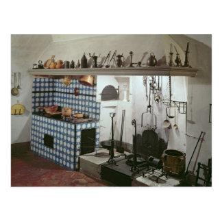 Interior de la cocina del hotel de Cabris Postal