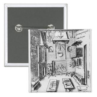 Interior de la cocina pin cuadrada 5 cm