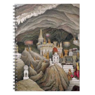 Interior de la gruta de Nam Hou, Laos, de 'Atl Libros De Apuntes Con Espiral