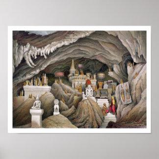 Interior de la gruta de Nam Hou, Laos, de 'Atl Póster