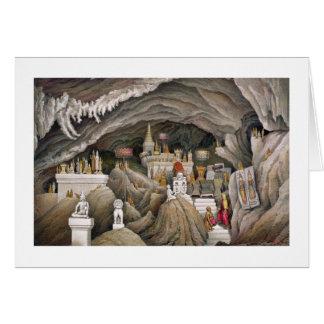 Interior de la gruta de Nam Hou, Laos, de 'Atl Tarjeta De Felicitación