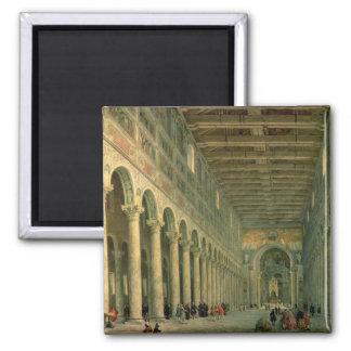 Interior de la iglesia de San Paolo Fuori le Imán De Frigorifico