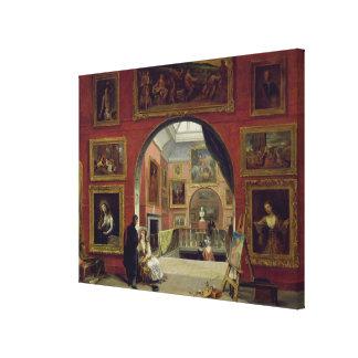 Interior de la institución real, durante el viejo impresión en lienzo estirada