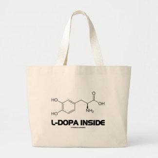 Interior de la L-Dopa (molécula química de Bolsa Tela Grande