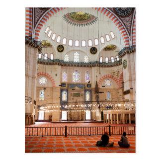 Interior de la mezquita de Suleymaniye Postal
