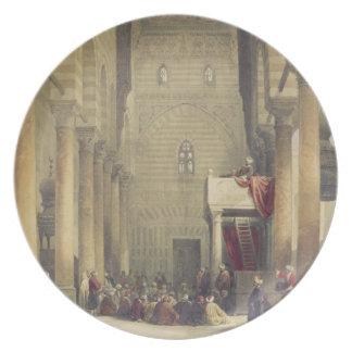 Interior de la mezquita del Metwalys, El Cairo, pa Platos Para Fiestas