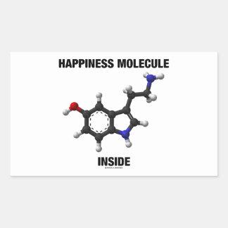 Interior de la molécula de la felicidad (molécula pegatina rectangular