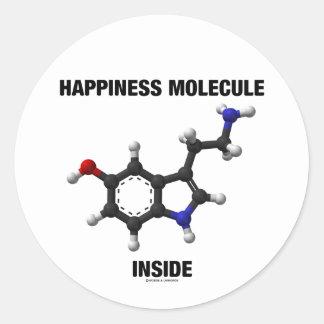 Interior de la molécula de la felicidad (molécula pegatina redonda