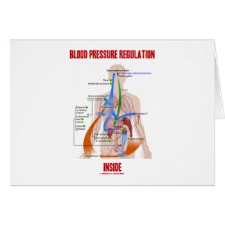 Interior de la regulación de la presión arterial tarjetas
