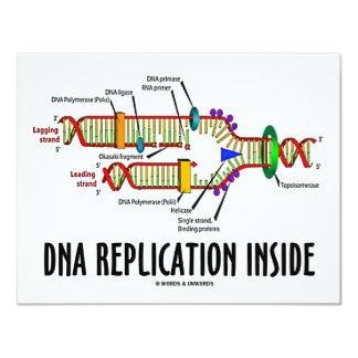 """Interior de la réplica de la DNA (actitud de la Invitación 4.25"""" X 5.5"""""""