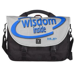 Interior de la sabiduría - Intel divertido parodia Bolsas Para Portatil