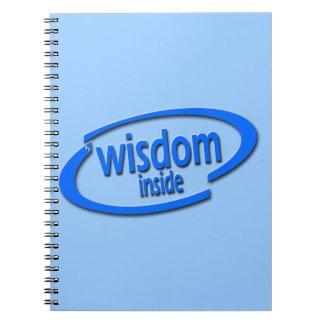 Interior de la sabiduría - Intel divertido parodia Libros De Apuntes Con Espiral
