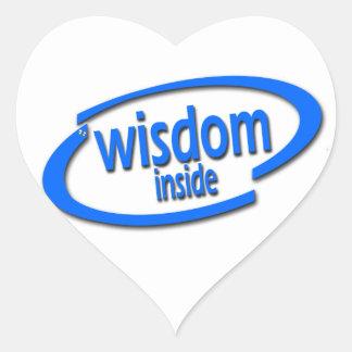 Interior de la sabiduría - Intel divertido parodia Calcomanías Corazones