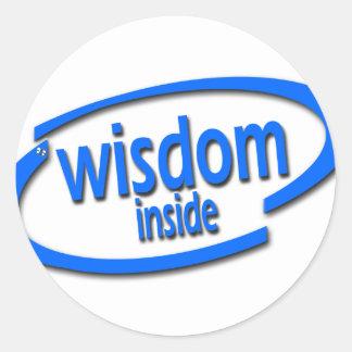 Interior de la sabiduría - Intel divertido parodia Etiqueta Redonda