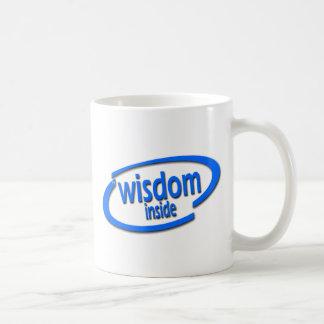 Interior de la sabiduría - Intel divertido parodia Tazas De Café
